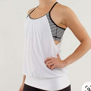 Lululemon two layer workout top